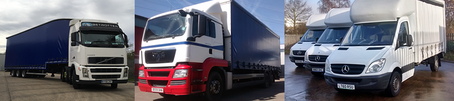 Our fleet of lorries and trucks for our haulage and distribution company in Aylesbury, Buckinghamshire.